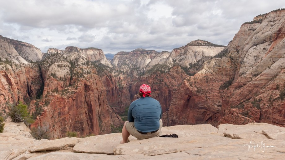 Zion Canyon is a great spot to sit and contemplate, observe the ever changing colors of the landscape.
