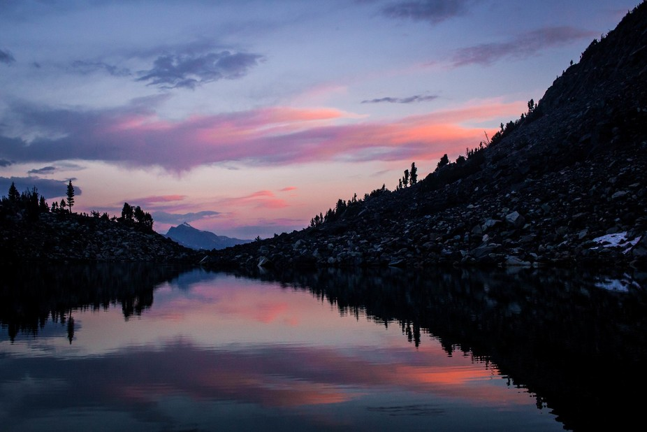 This was taken at the Graveyard Lakes, a cluster of lakes in the High Sierra that look serene and...