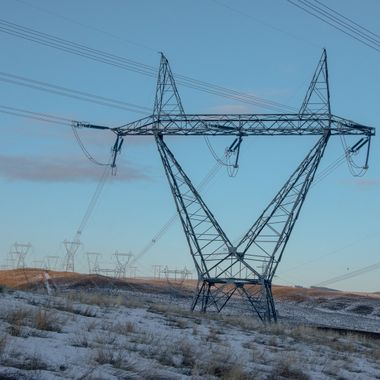Some powerlines at the Sub-Station.