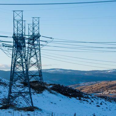 Powerlines in the Merritt area