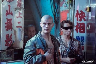 A random corner around temple market in Hong Kong. Three men waiting...