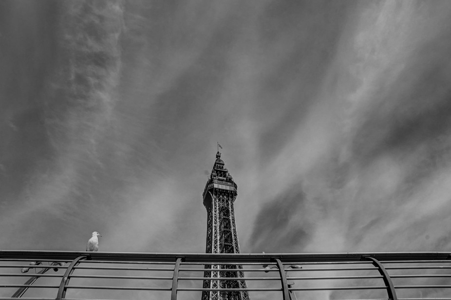 Just happened to capture this by happy accident whilst walking along Blackpool's sea def...