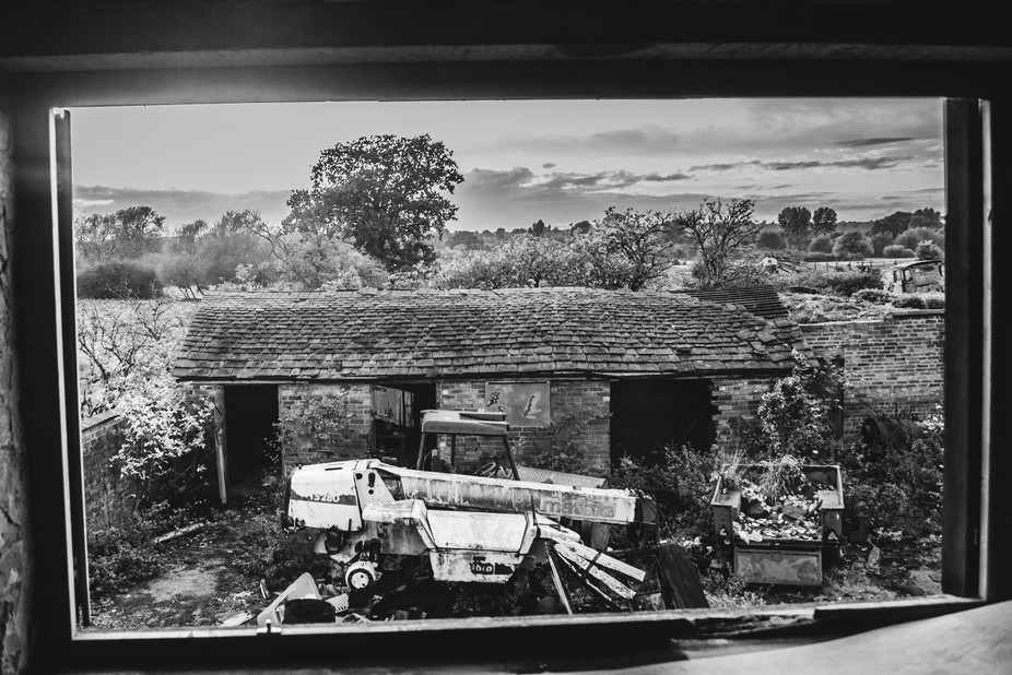 Exploring an abandoned farm house that had sustained terrible fire damage, there was one new wind...