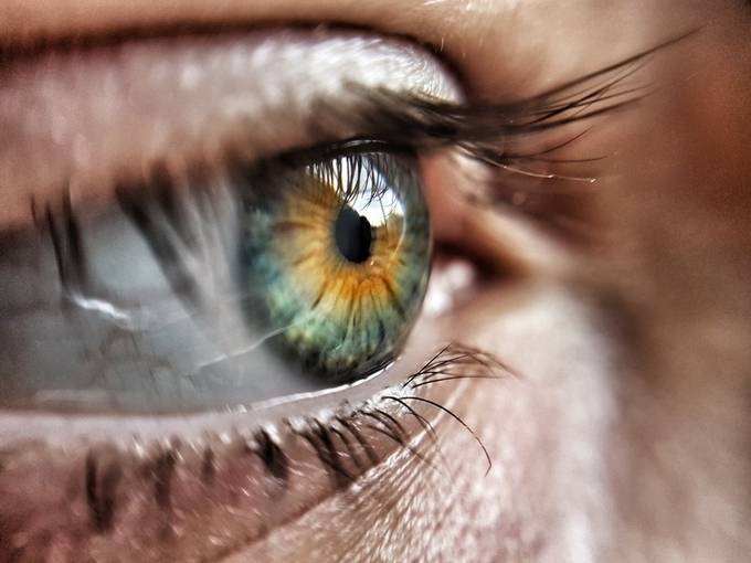the most stunning thing on our body are our eyes.. you can see all trough them