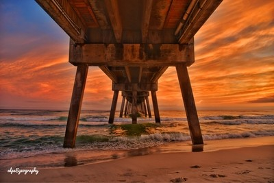 Beach, pier and sunset ????best combination !