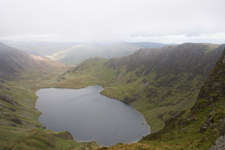 From Cadair Idris in clearing mist