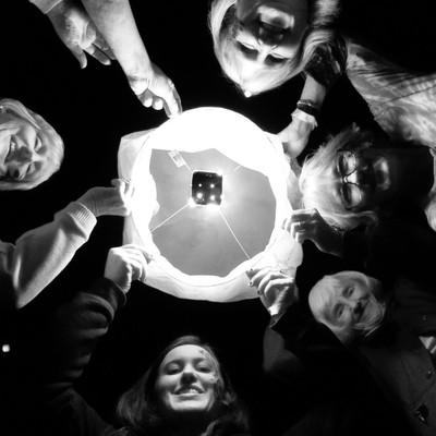 group selfie B&W