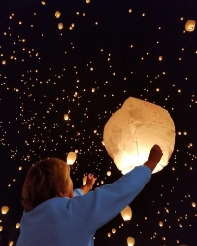 releasing lantern