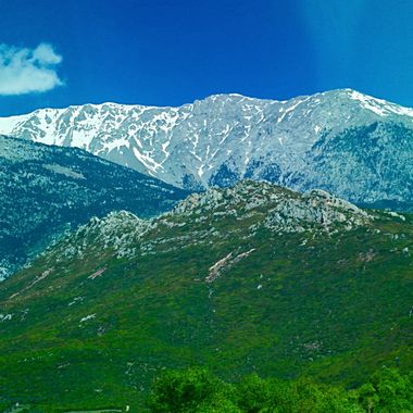 Delphi, Greece, snowcaps, mountains, sku