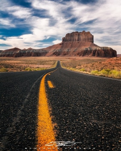 Road to Goblin Valley State Park