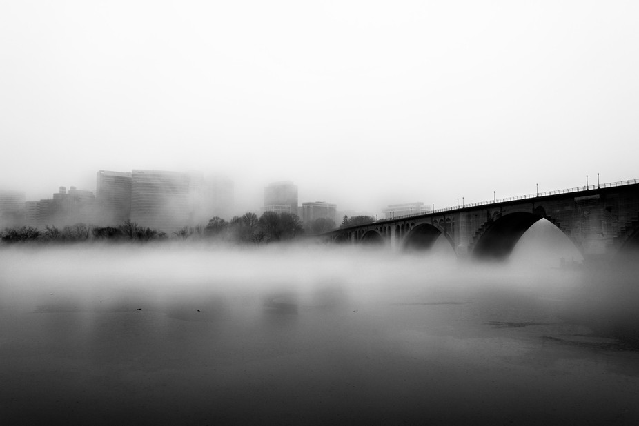 A warm February day along with some rain pulled some great low level fog from the river. Taken fr...