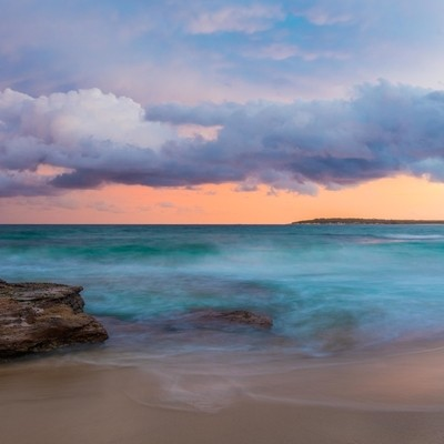 sunset at Blackwoods beach