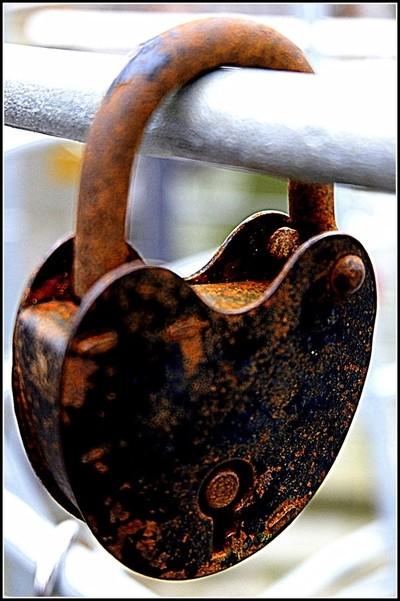 Rusting lock heartshaped