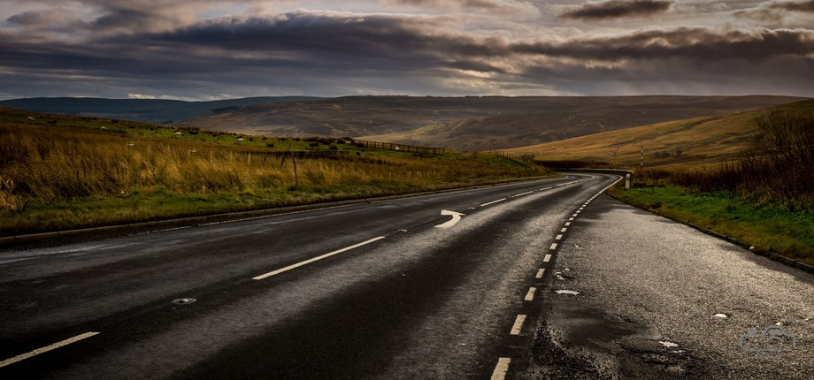 Empty Scottish road