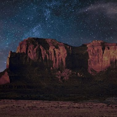 Night Sky at Monument Valley