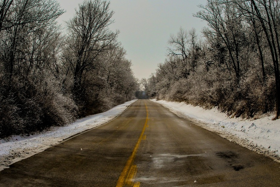 This road is known as deer valley but today I looked at it in a different light.  I see the frost...
