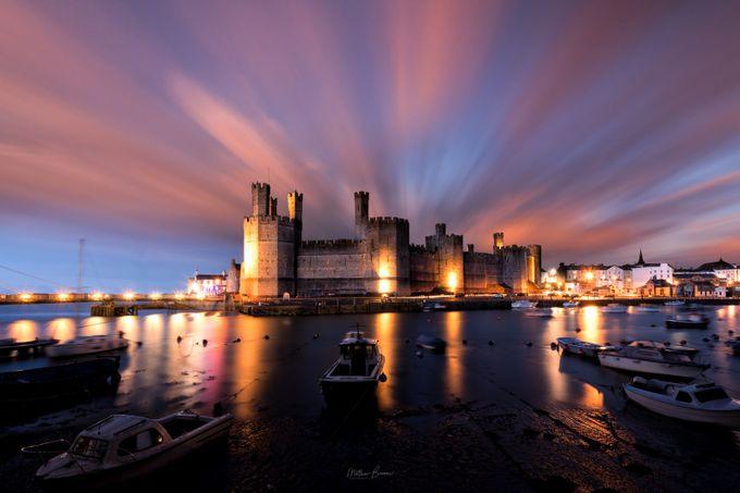 Caernarfon Castle at Sunset by mathewbrowne - Sunset And The City Photo Contest
