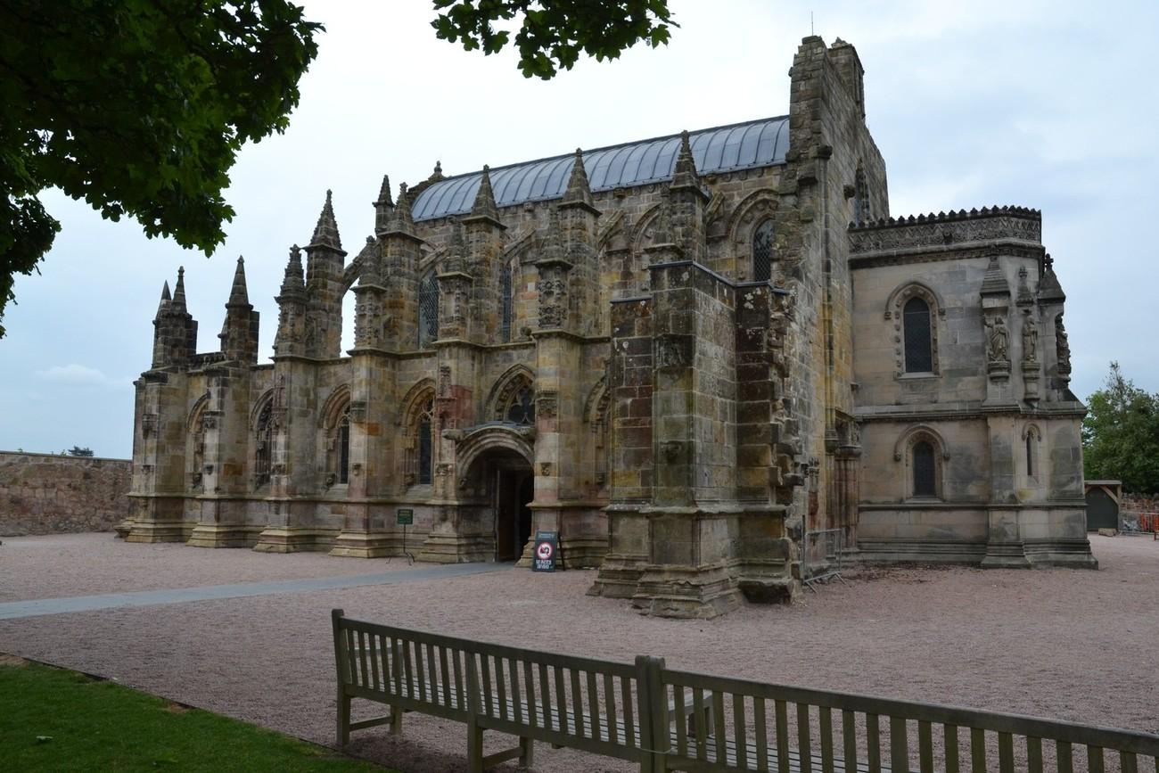 Roslyn Chapel as seen on The Da Vinci Code can be found in Scotland near Edinburgh.