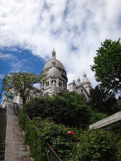 stairs to Sacré-Cœur.in Montmartre