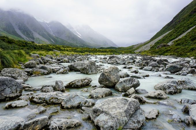 River near mount cook  by Katee33 - Streams In Nature Photo Contest