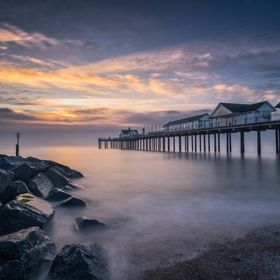 The view from Southwold beach while waiting for a sunrise that didn't deliver everything that it promised....