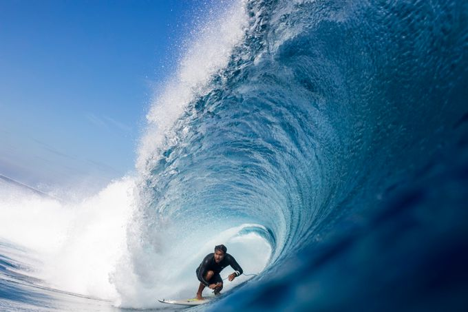 Kai Barger barreled at Cloudbreak by dnphoto - Image Of The Month Photo Contest Vol 30