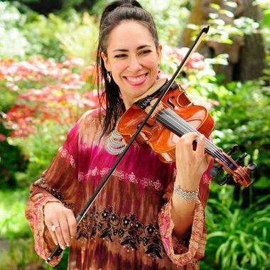 Violinist in Lavender Gardens