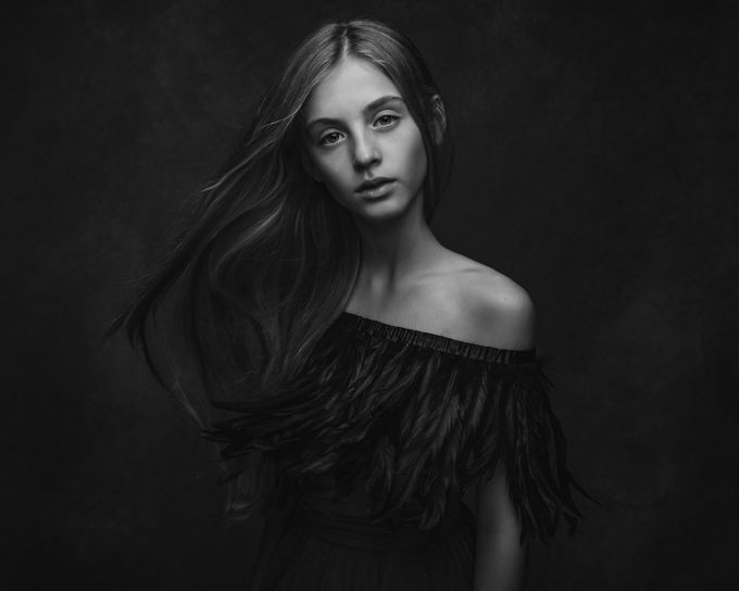 Raven-the messanger by Paulina_Duczman - A World In Black And White Photo Contest