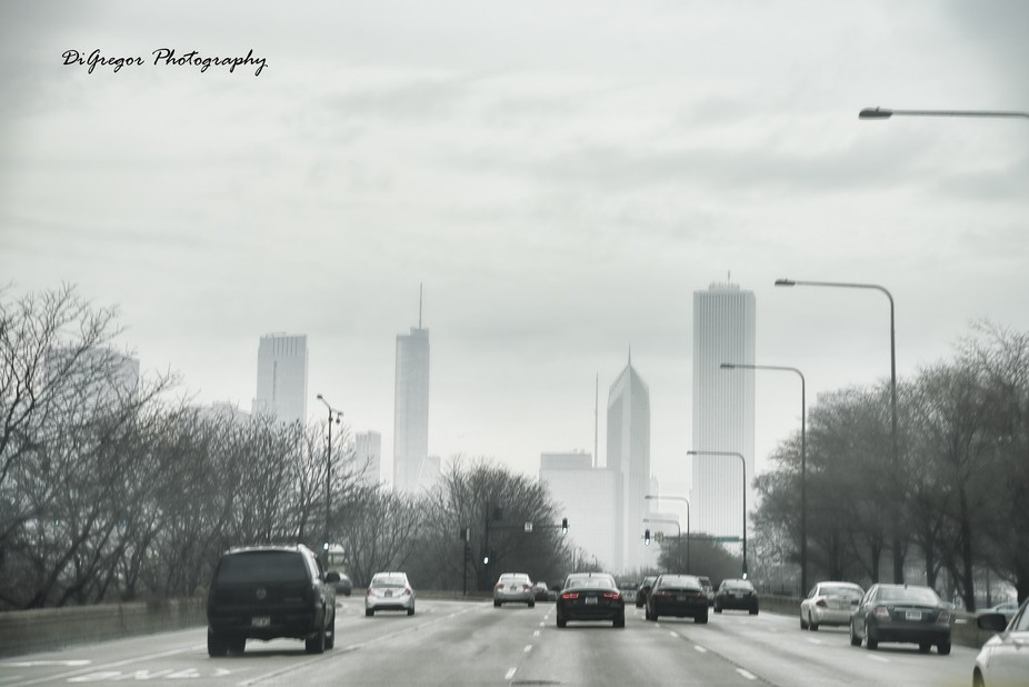 This was taken on a very foggy day in Chicago