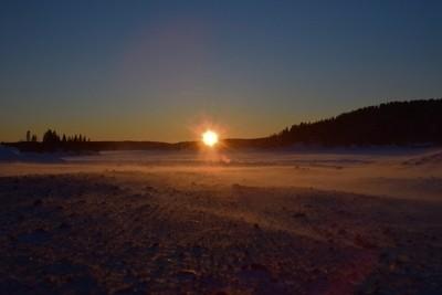 Ice Road Sunset