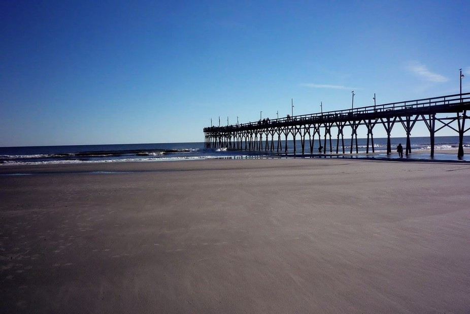 On a trip to visit family, I captured this image of the pier at Sunset Beach.  It's one ...