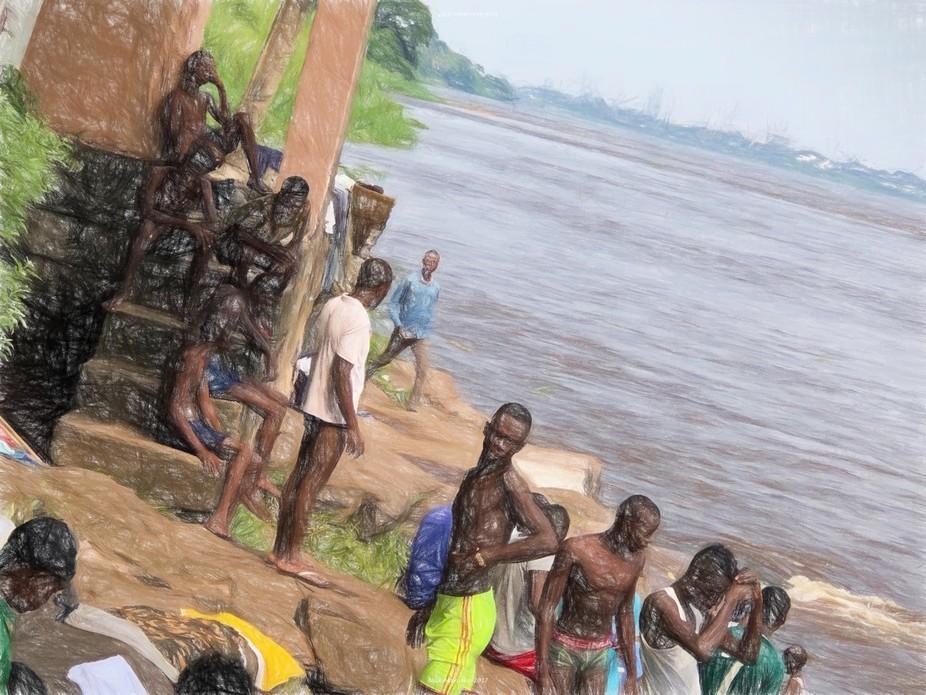 Relaxing along the Congo River