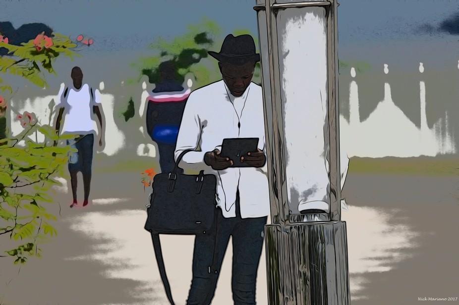 Along the walking street in Brazzaville, Congo