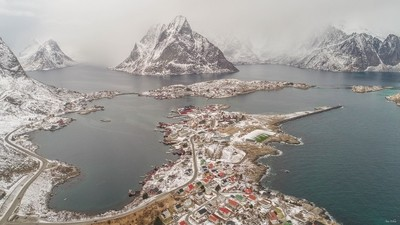 Northern bay in winter