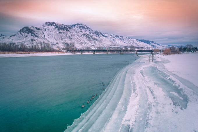 THOMPSON RIVER by raulweisser - Pastel Colors Photo Contest
