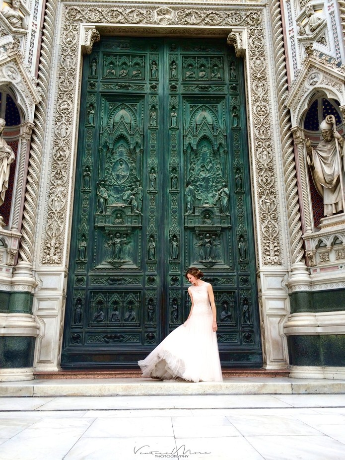 A beautiful bride in front of the famous Duomo di Firenze  by sammoultrie - Weddings And Fashion Photo Contest
