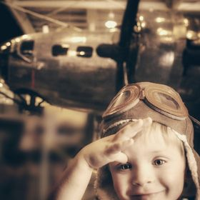 Your captain is ready to start the engines as soon as you're onboard. Adventure is out there!   (Taken at the Mighty 8th Airforce Museum in Poo...