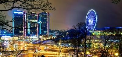 Gothia Towers night