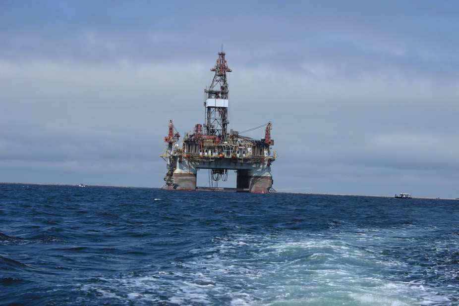 This is a working oil rig stationed off the coast of Namibia
