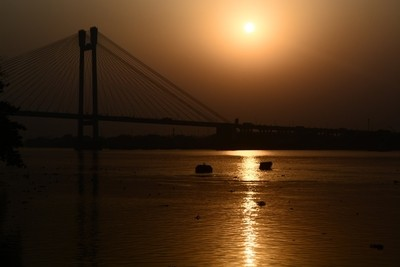 Sunset by river Ganges