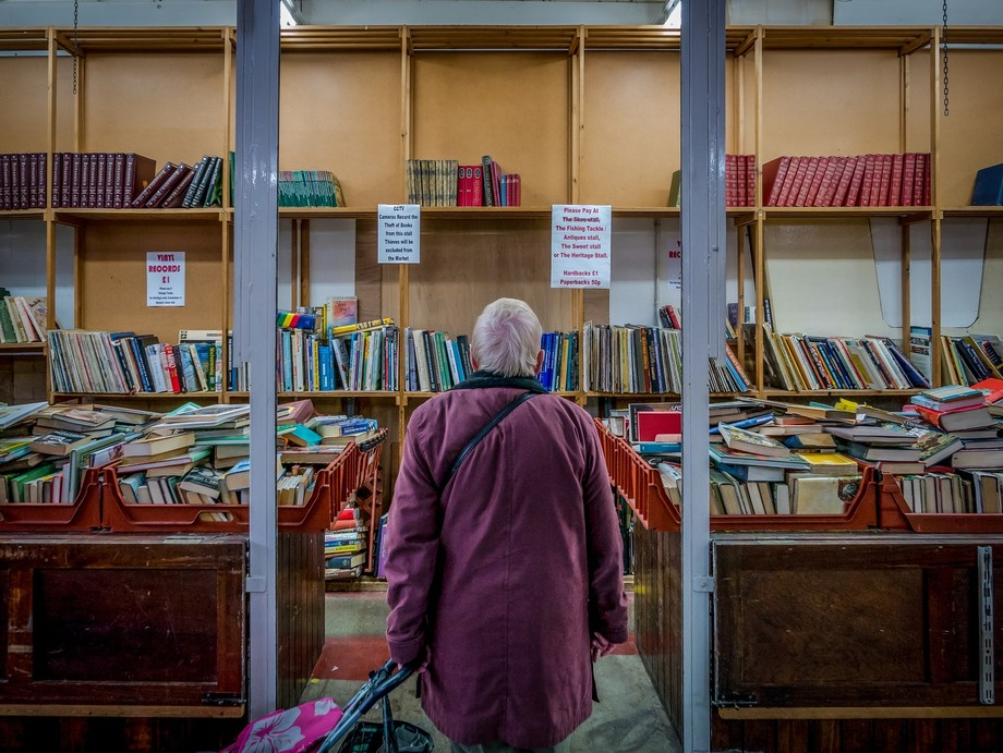 The Book Stall. Coventry Market. 2016