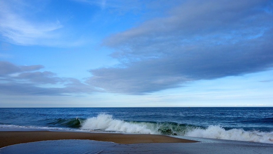 Blue Skies on the Beach