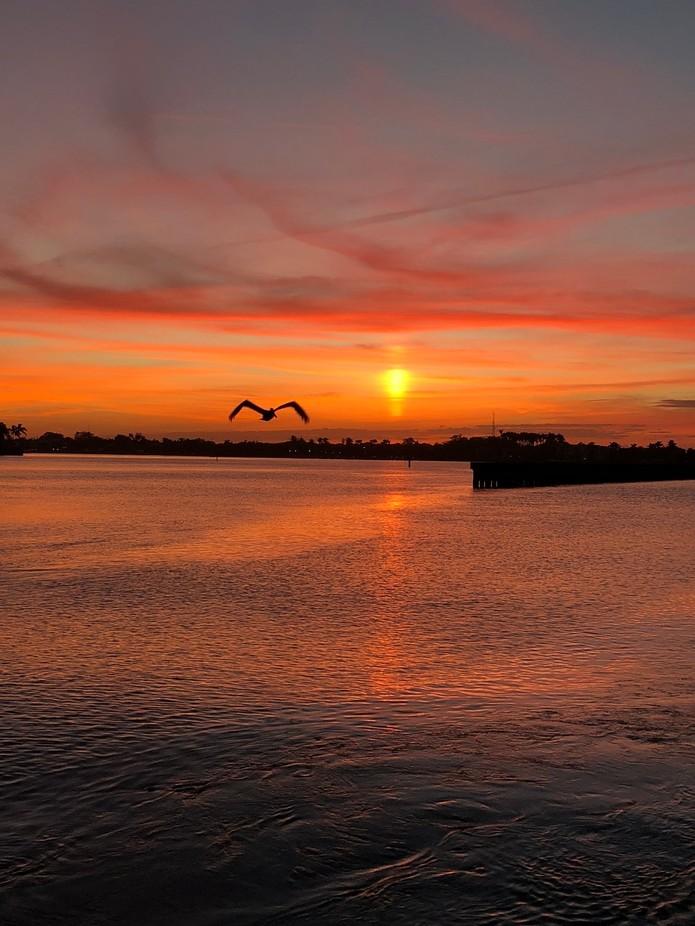 Sunset at Boynton Beach inlet