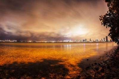 Another shot of biscayne bay and down town miami