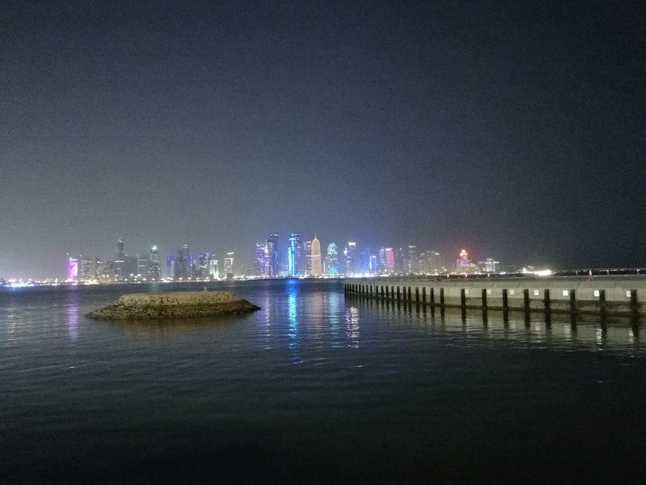 West bay Doha - A panaroic view at night shot