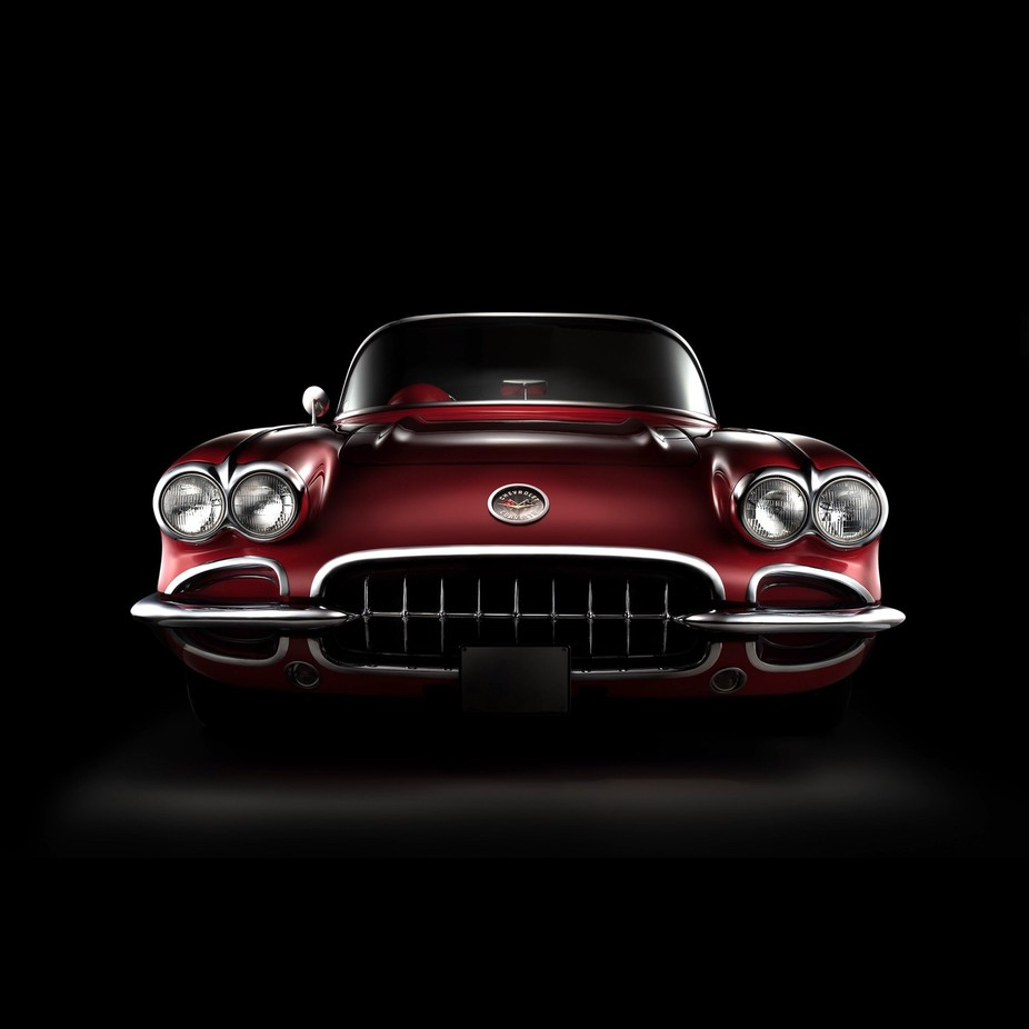 Classic Corvette front view photograph using the fdl technique. The final image consist of 6 images that were layerd using Photoshop.  by sarelvanstaden - My Favorite Car Photo Contest