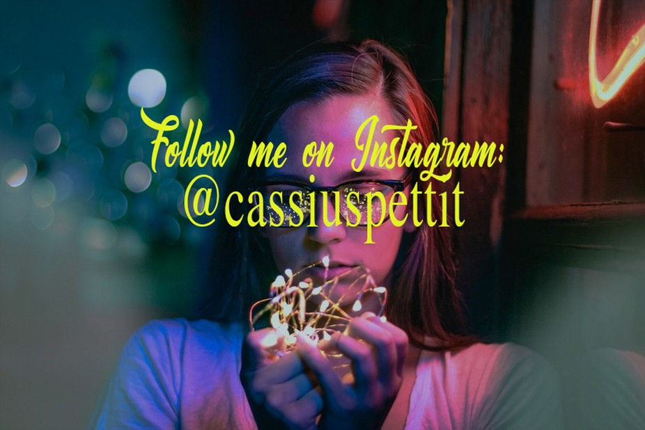 Follow me on Instagram: @cassiuspettit