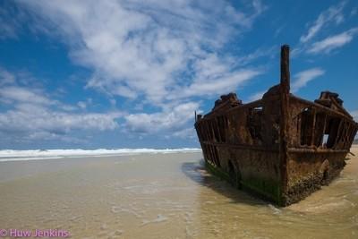 Wreck of the SS Maheno.