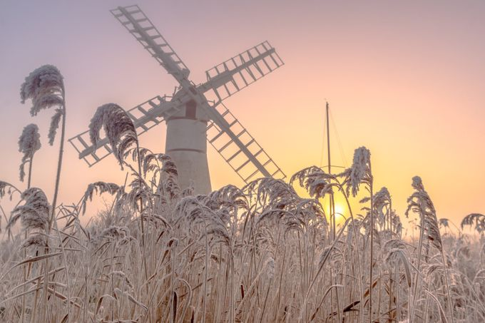 Thurne Mill Sunrise by stevehardiman - Pastel Colors Photo Contest