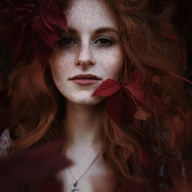 Beautiful Corinna, with beautiful red hair <3
